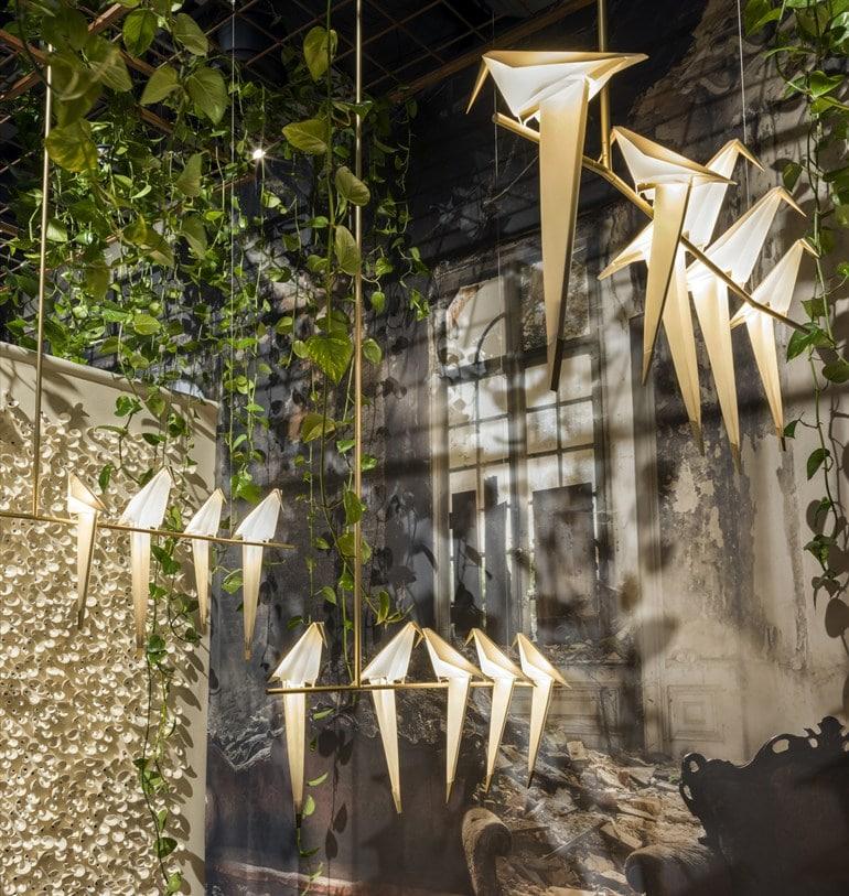"""Pendelleuchte """"Perchlight"""" des Designers Umut Yamac für moiii design. (Preis: auf Anfrage)"""
