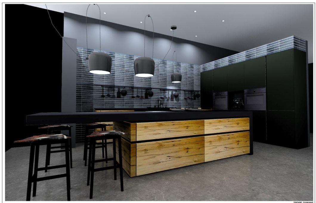 """rational """"Wohnfühlwelten"""" sollen elegant und wohnlich zugleich sein. Das realisiert der Küchenhersteller aus Ostwestfalen beispielsweise mit dem natürlichen Rohstoff Risseiche, kombiniert mit dem Nanotech-Material Fenix. (Foto: rational)"""