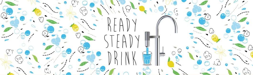 """Ready, steady, drink? Wasserfilteranlagen gibt es bereits zuhauf auf dem Küchenmarkt - aber die Filter-Armatur """"Vital"""" von Franke beweist, dass es auch klein und platzsparend geht. (Foto: Franke)"""