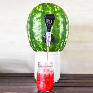 Ja. Es ist kein Traum. Die Zapfanlage für Wassermelonen gibt es wirklich. (Foto: RADBAG)
