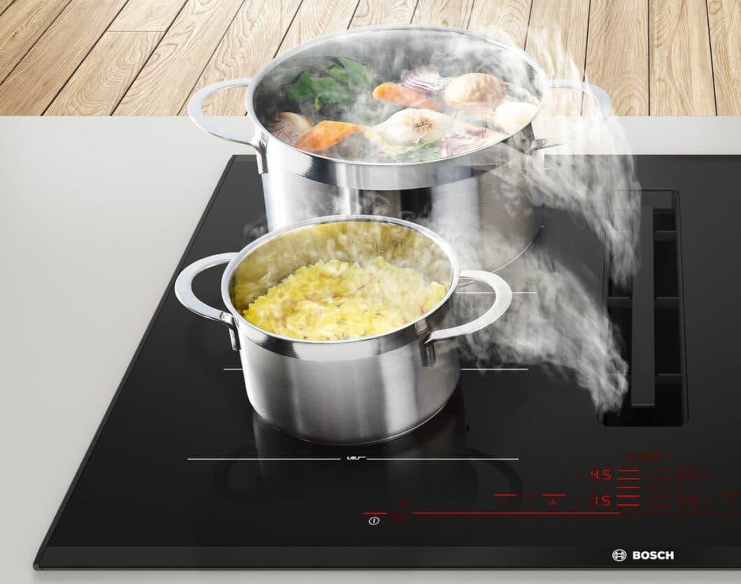 Für jede Kochzone kann der Nutzer einen Timer mit Abschaltfunktion einstellen. (Foto: Bosch)