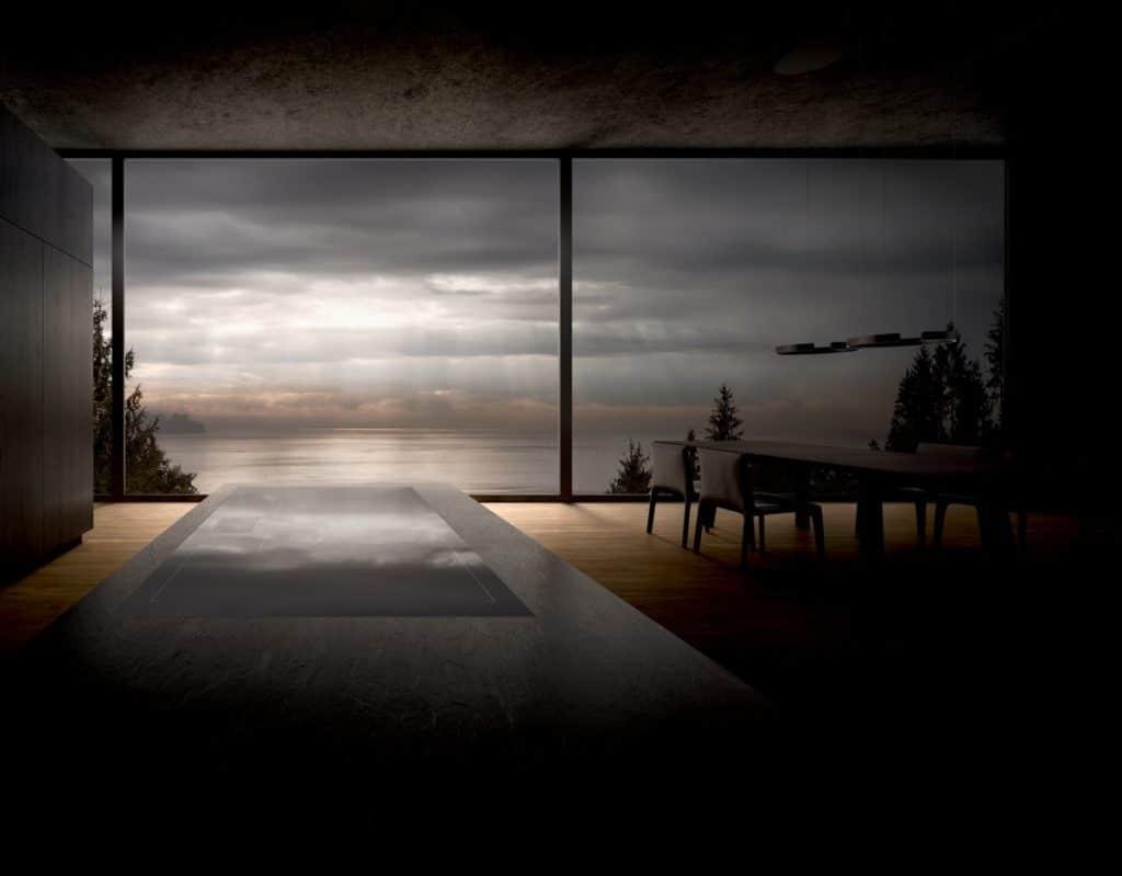 Grenzenloses Kochen trifft unsichtbaren Wrasenabzug: künftig kann die neue Tischlüftung von Gaggenau nahtlos mit Kochfeldern in 80 cm und 90 cm Breite kombiniert werden. (Foto: Gaggenau)