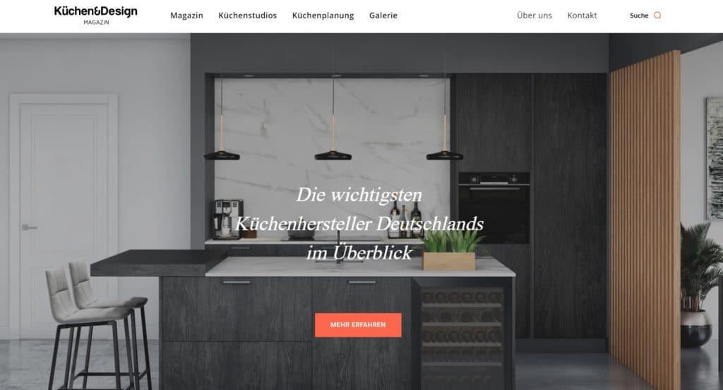 Die neue Startseite des Küchen&Design Magazins: wir sind erwachsener geworden. (Foto: Küchen&Design Magazin)